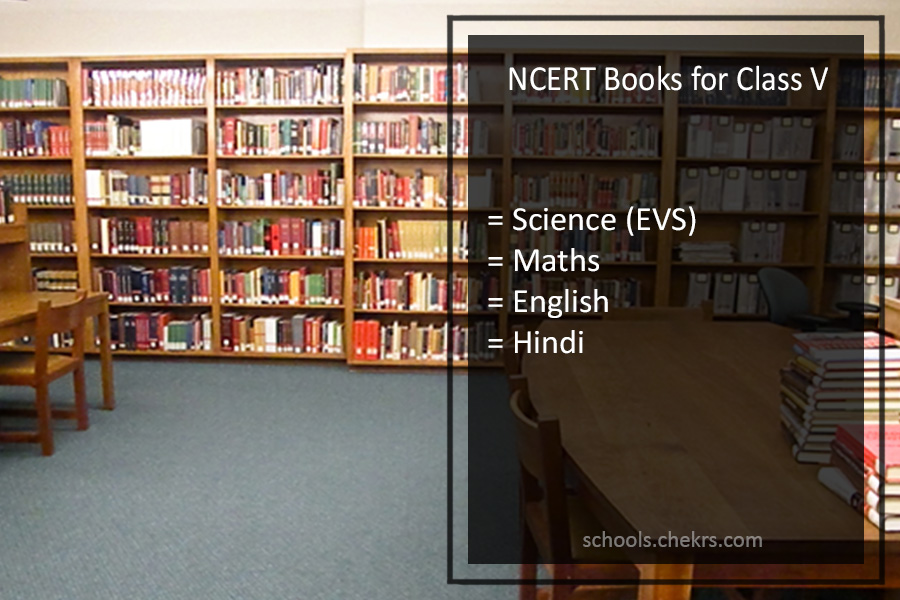 NCERT Books for Class 5 - Science (EVS)- Maths, English