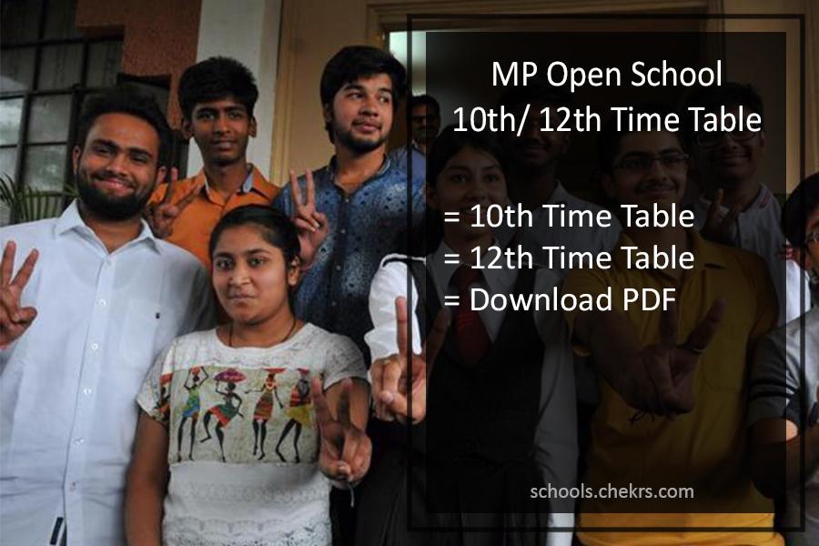 Mpsos 10th 12th Time Table 2019 Released Mp Ruk Jana Nahi June