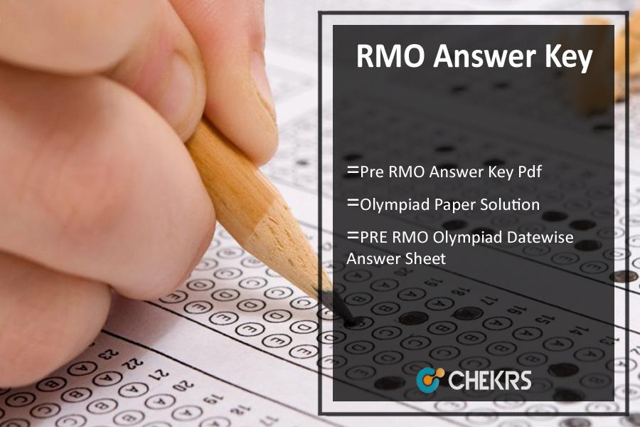 RMO Answer Key 2019 - RMO Olympiad 7th Oct Exam Paper Solution