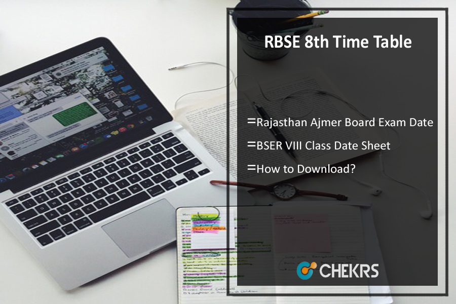 RBSE 8th Time Table 2019 - Rajasthan Ajmer Board (BSER) Exam