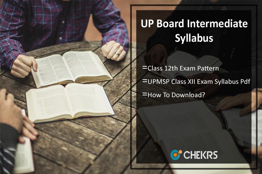 UP Board Intermediate Syllabus 2019-2020 Pdf Download- 12th