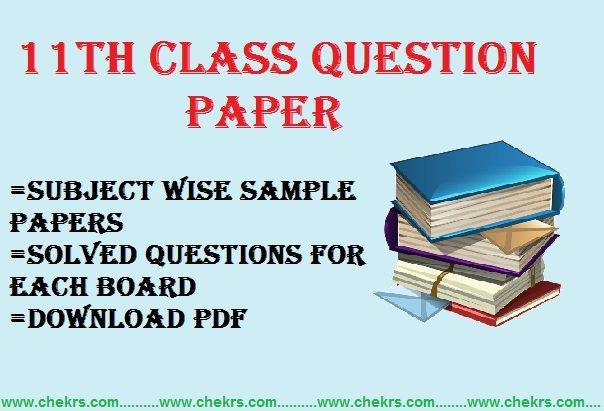 11th Class Question Paper 2020 Sample/ Model Paper Pdf Hindi