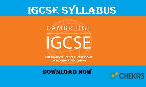 IGCSE Syllabus for Grade 10 9 8 7 6 5 to 1 & Question Paper