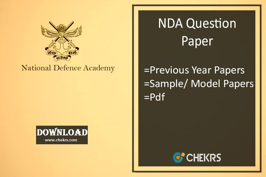Nda Model Question Paper Pdf