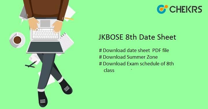 JKBOSE 8th Date Sheet 2019 - Download Summer-Zone Jammu