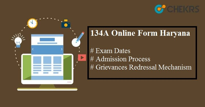 134A Online Form Haryana 2019-20 | Latest Updates Available Here