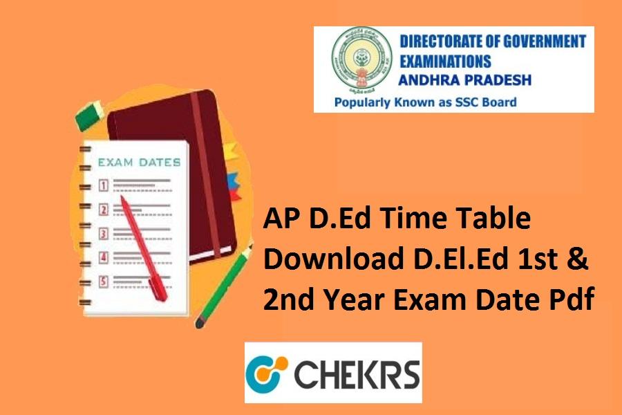 Ap Exam Calendar 2022.Ap D Ed Time Table 2021 Www Bse Ap Gov In D El Ed 1st 2nd Year Exam Date