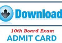 10th Admit Card 2017