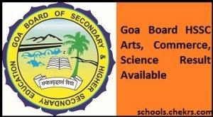 Goa Board HSSC Result 2017, GBSHSE 12th Arts, Science, Commerce Scorecard