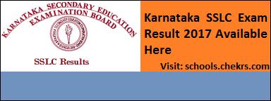 Karnataka SSLC Result 2017- KSEEB 10th Final Scorecard at chekrs.com