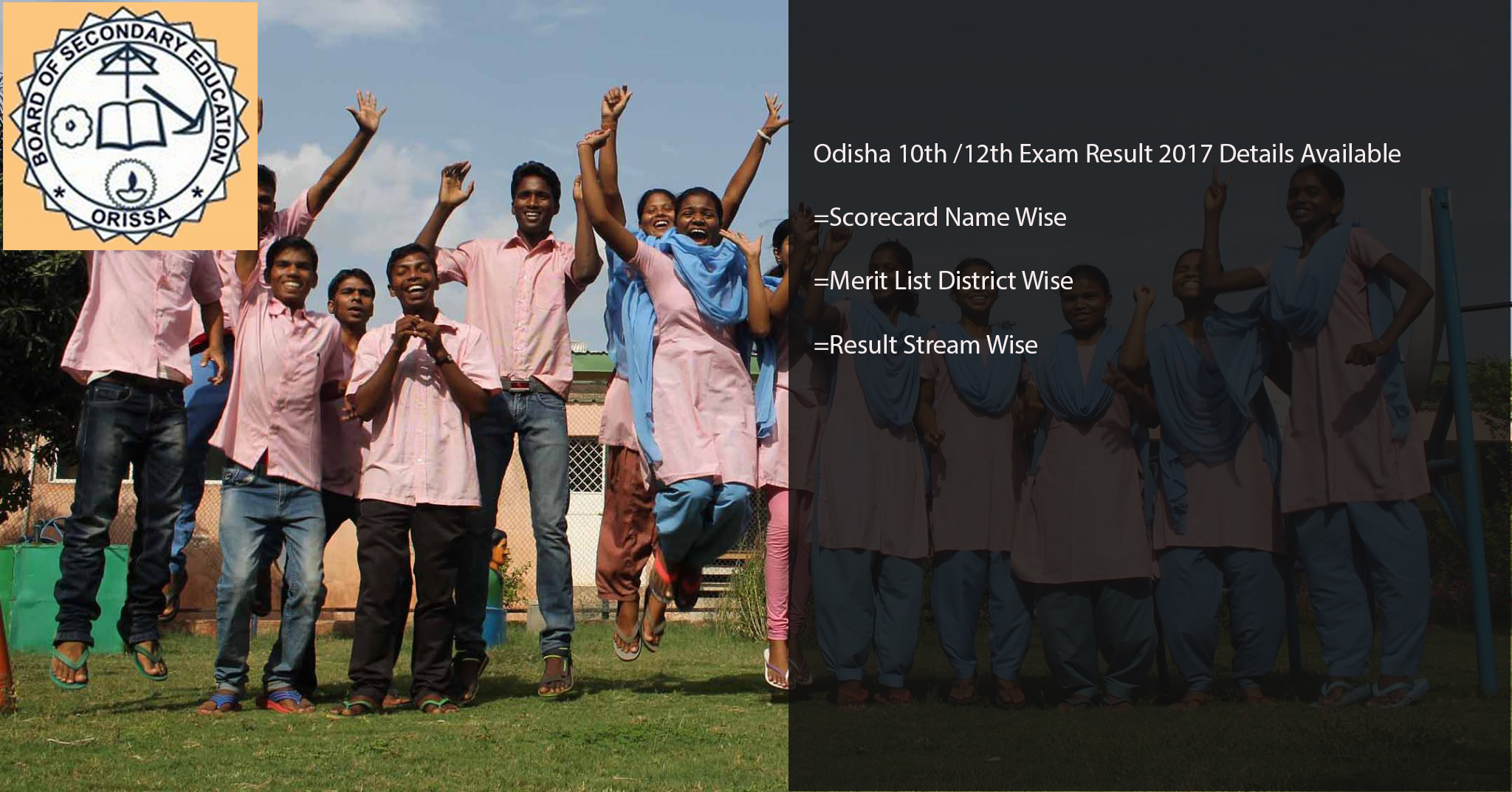 Odisha CHSE Results 2017- Orissa 12th (+2) Arts/ Commerce/ Science Scorecard