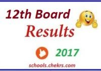 12th Board Results 2017