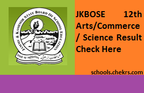 JKBOSE 12th Result 2017- JK Board Arts Commerce Science Scorecard