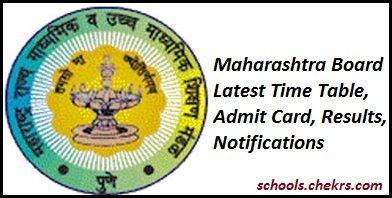 Maharashtra Board SSC Time Table 2017, Maha 10th Date Sheet Pdf