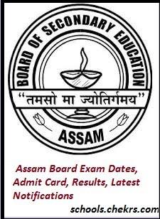 Assam Board (AHSEC) SEBA Time Table, Admit Card, Results, Schools