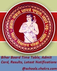 Bihar Board (BSEB) - Time Table, Admit Card, Result, Schools