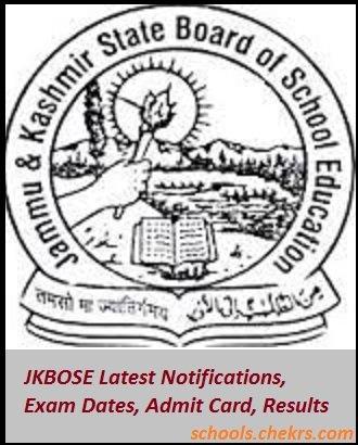 JKBOSE (JK Board)- Date Sheet, Admit Card, Result, Schools