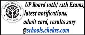 UPMSP High School Admit Card 2017, UP 10th Hall Ticket/ Roll Number Slip