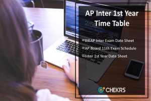 AP Inter 1st Year Time Table - BIEAP Inter Exam Date Sheet