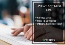 UP Board 12th Admit Card, UP Intermediate Hall Ticket Release Date