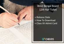 West Bengal HS Hall Ticket, WB Board Higher Secondary Roll Number