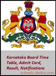Karnataka Board (KSEEB)- Time Table, Admit Card, Result, Schools