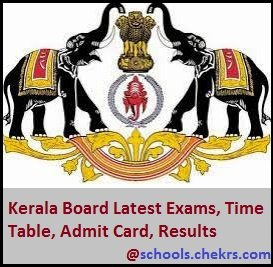 Kerala Board (DHSE)- Time Table, Admit Card, Result, Schools