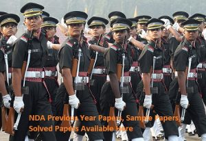 NDA Previous Year Question Paper, Sample, Model Paper pdf Solutions