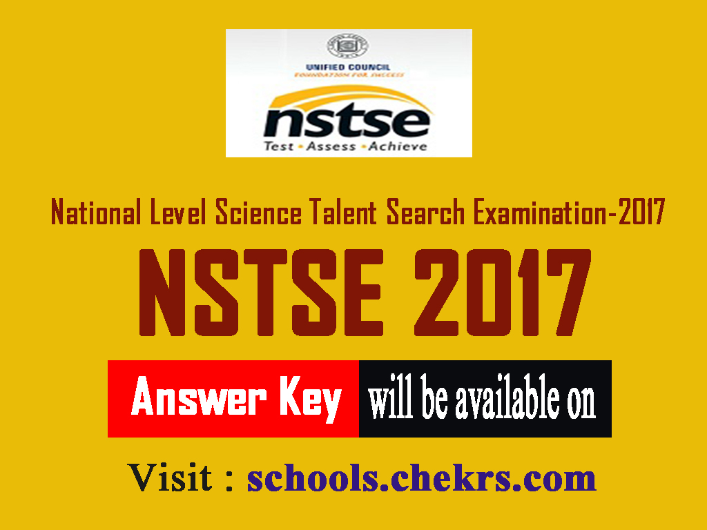 NSTSE Answer Key 2017- Question Paper Solution for 9th, 10th, 11th, 12th Class