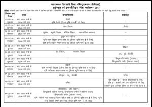 Uttarakhand Board 12th Date Sheet 2017, UBSE Intermediate Exam Date Available