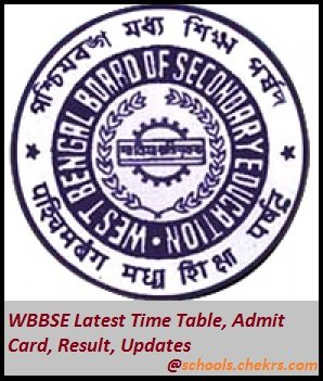 West Bengal Board (WBBSE)- Time Table, Admit Card, Result