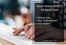 Assam 12th Admit Card, AHSEC HS Exam Hall Ticket Release Date