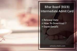 BSEB Intermediate Admit Card, Bihar Board 12th Hall Ticket Release Date