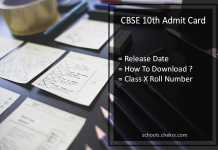 CBSE 10th Admit Card, CBSE 10th Roll Number