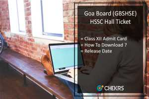 Goa Board HSSC Hall Ticket, GBSHSE 12th Admit Card Release Date