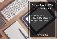 Gujarat Board 10th Admit Card, GSEB SSC Hall Ticket Release Date