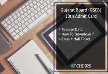 Gujarat Board 10th Admit Card, GSEB SSC Hall Ticket Release Date