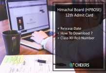 HP Board 12th Admit Card, HPBOSE 12th Class Roll No Release Date
