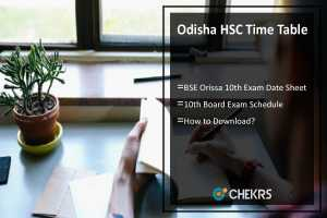 Odisha HSC Time Table- BSE Orissa Date Sheet Download