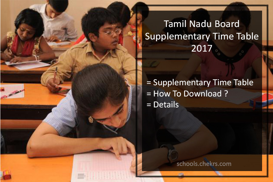 Tamil Nadu HSC Date Sheet 2018, TN Board 10th Time Table Download