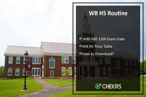 WB HS Routine- WBCHSE 12th Exam Date, Time Table, Programme