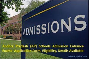 Andhra Pradesh School Admission Entrance Exam 2017- Application, Eligibility