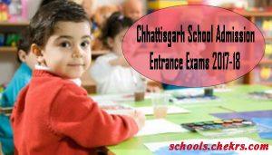 Chhattisgarh (CG) Schools Admission Entrance Exam 2017- Admission Process