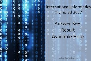 SilverZone IIO Olympiad 2017- Answer Key, Result School Wise Available