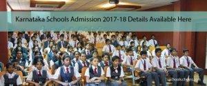 Karnataka Schools Admission 2017- Entrance Exam, Dates, Fee Structure