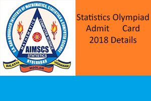 Statistics Olympiad 2018- Admit Card/ Hall Ticket, Exam Centres