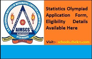 Statistics Olympiad 2017 Application Form, Eligibility Available