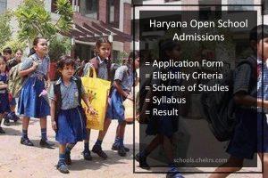 Haryana Open School (HOS) Admissions 2017- Procedure Details