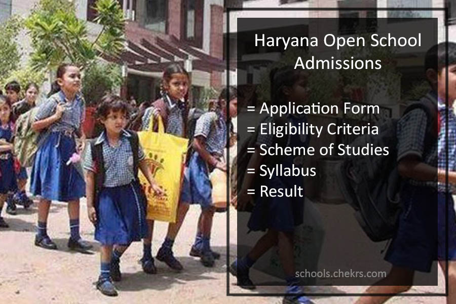 Haryana Open School (HOS) Admissions 2017- Procedure Details