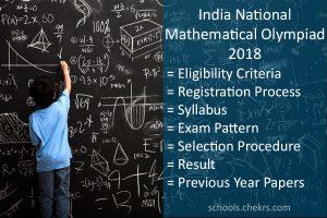 India National Mathematics Olympiad (INMO) 2018